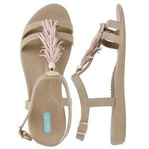 NWT OKA b. Sandals w/Tassels & Gold Accents ~ Sz 8